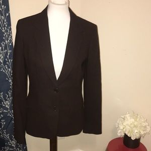 MaxMara Dark Brown Two Button Wool Blazer Jacket
